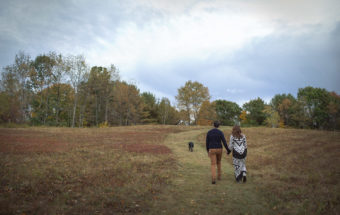 Fall Engagement Photos New England