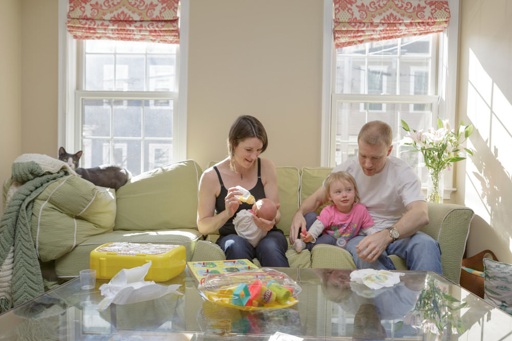 charlestown mass family portrait photography newborn sibling