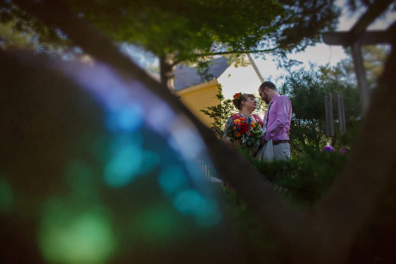 jamaica plain wedding at bella luna red dress
