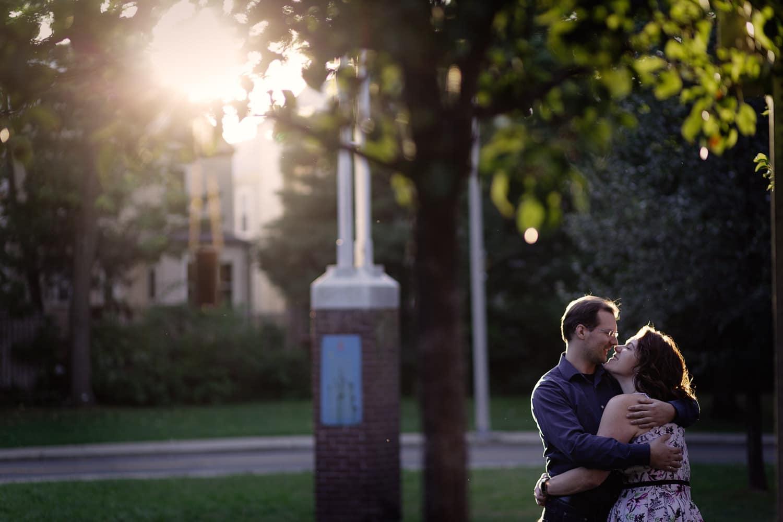 boston engagement portrait davis square photos magic hour