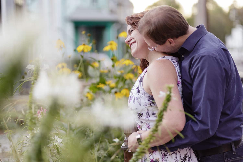 late summer boston engagement portrait davis square photos magic hour