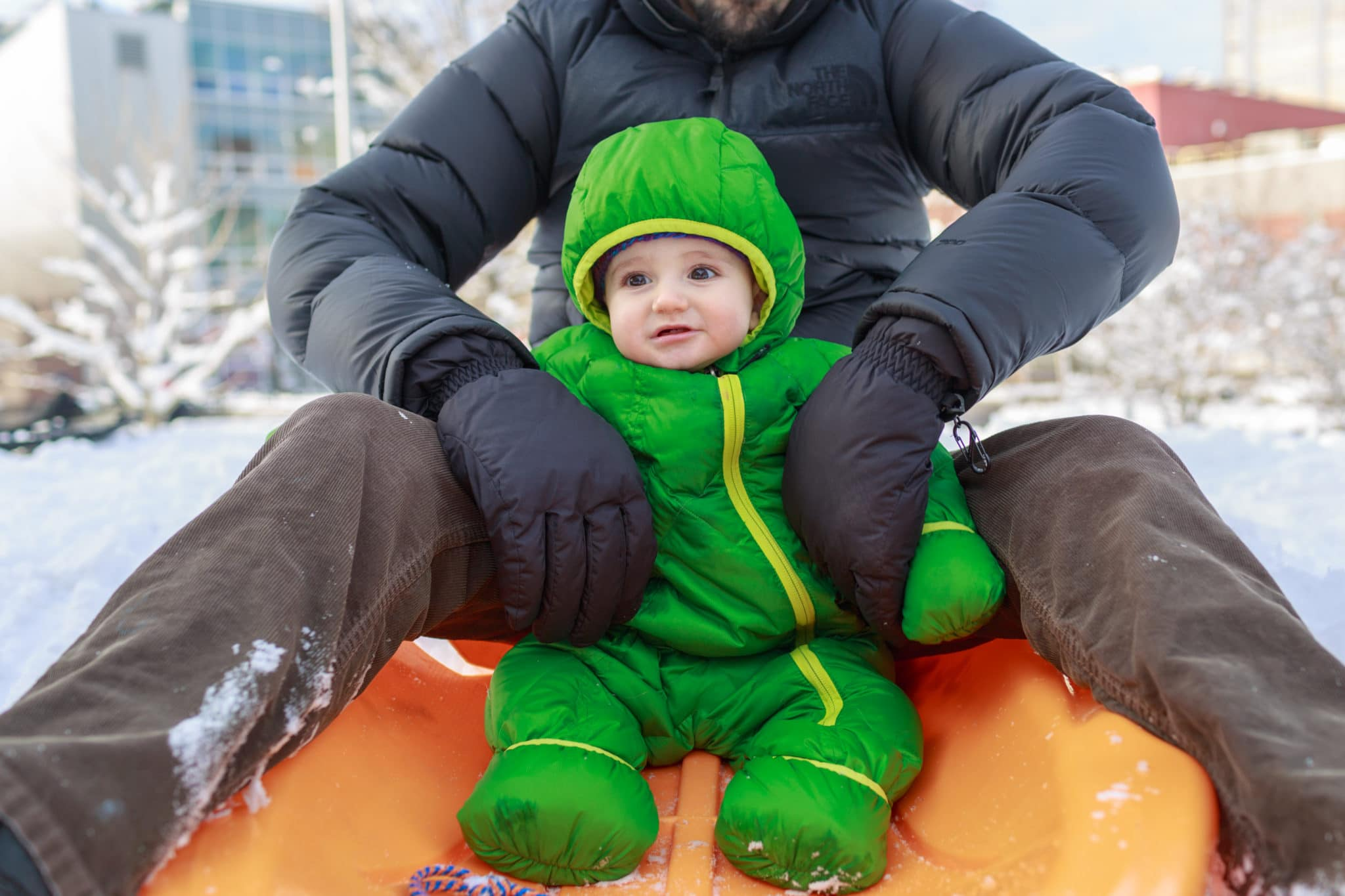 south boston family photographer documentary snow day winter outdoor