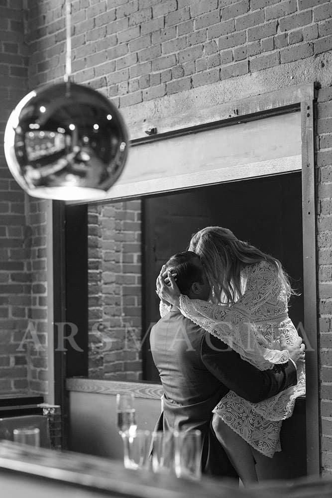 indoor engagement photos boston restaurant