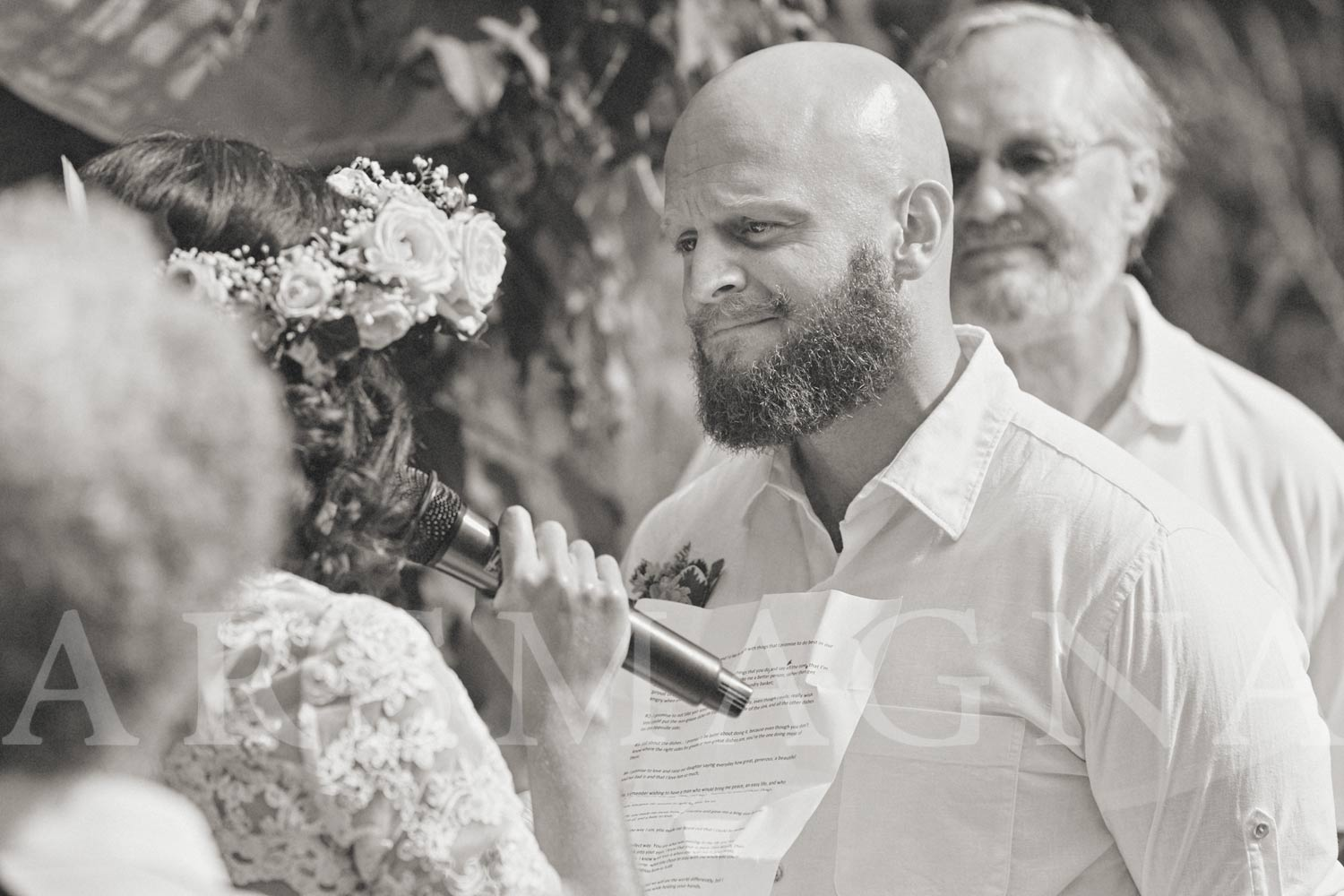 groom tearing up ceremony boston nature center boston wedding photographer