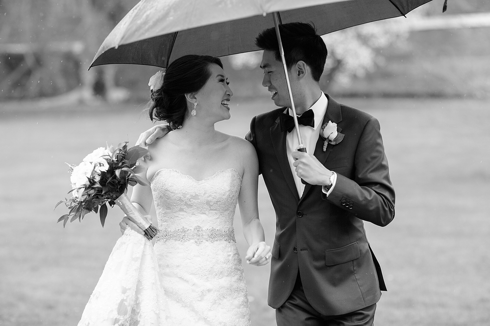 Lyman Estate rainy day wedding