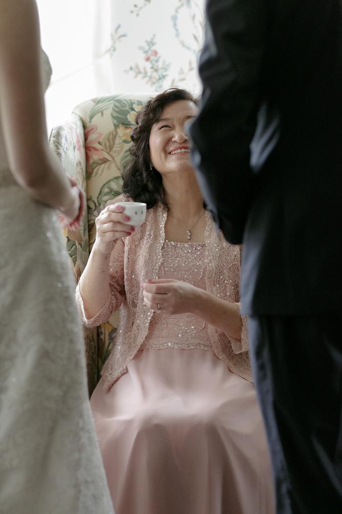 Lyman Estate Wedding Tea Ceremony