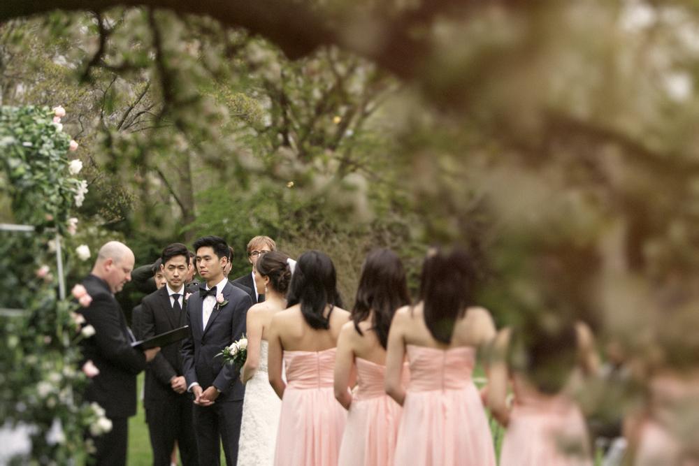 outdoor ceremony lyman estate wedding flowers