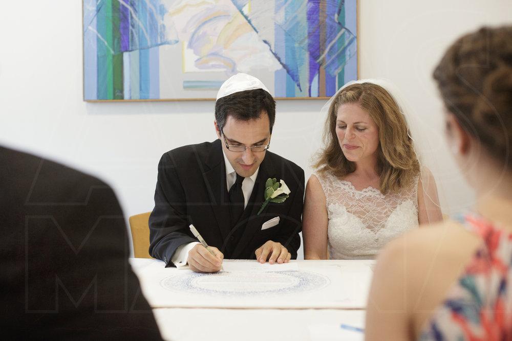 beth el temple wedding belmont ketubah signing