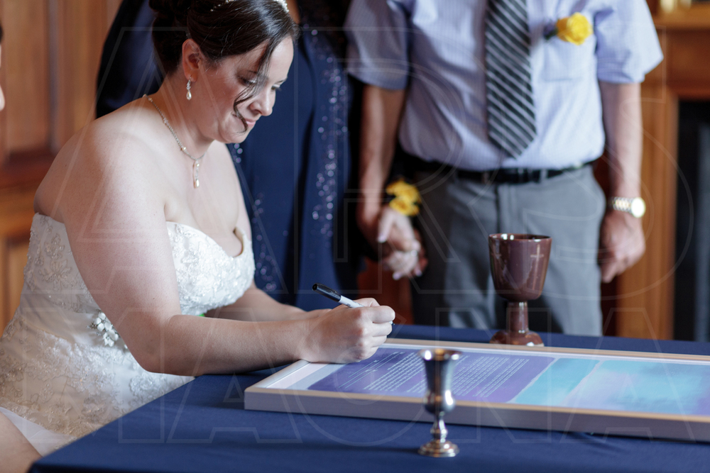 signing ketubah misselwood wedding