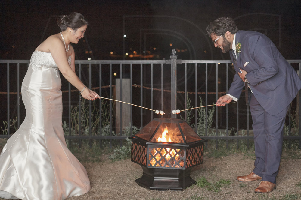 A break from the Shalin Liu wedding dance floor to roast some marshmallows - s'more time!