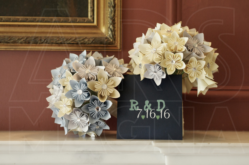 misselwood wedding paper flower bouquets
