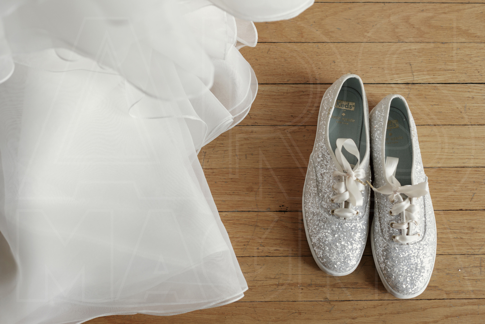 misselwood wedding glitter sneakers