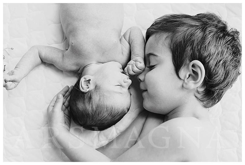 Boston Family photographer newborn siblings