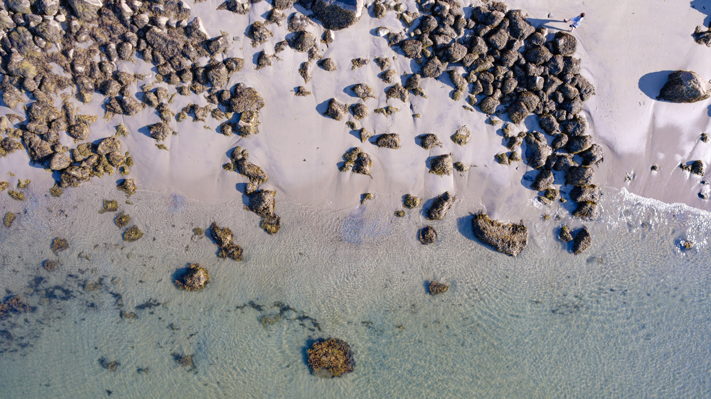rockport wedding photographer beach by drone
