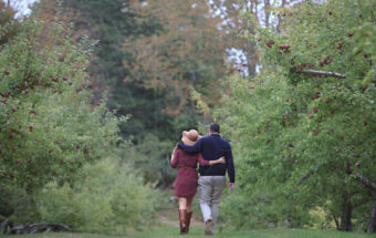New England Engagement Portraits at Clark's Cove Farm and Inn, Maine