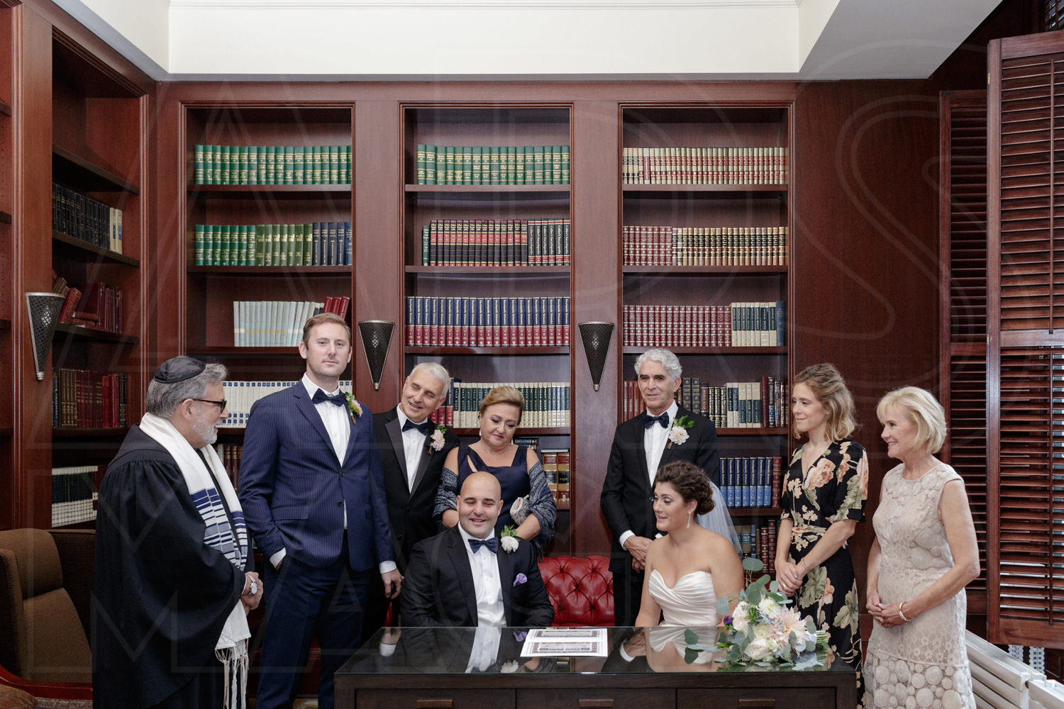 boston wedding photographer ketubah signing