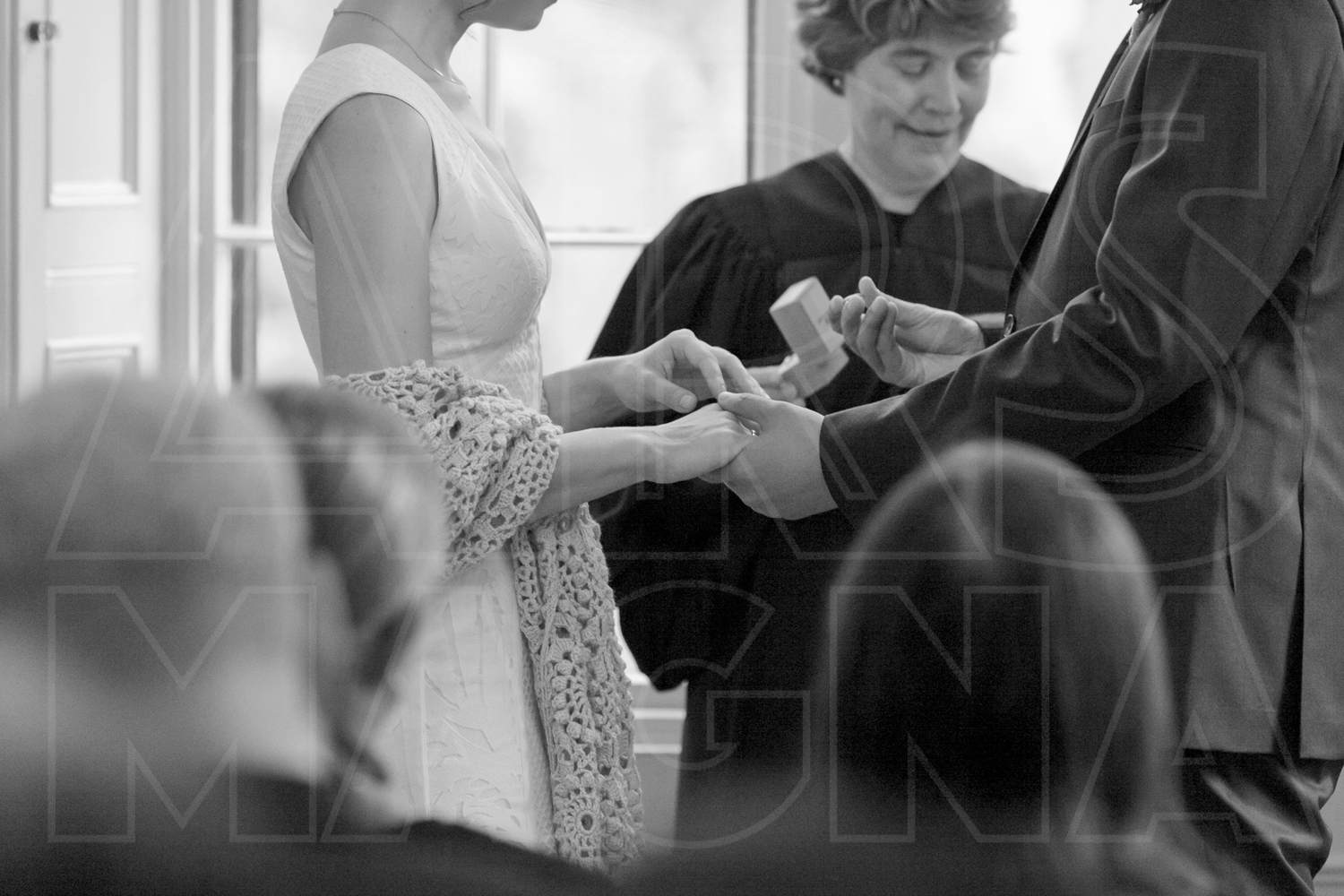 commanders mansion indoor ceremony wedding ring exchange photos