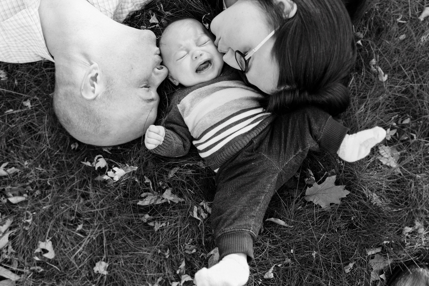 crying baby family portrait documentary photographer Boston