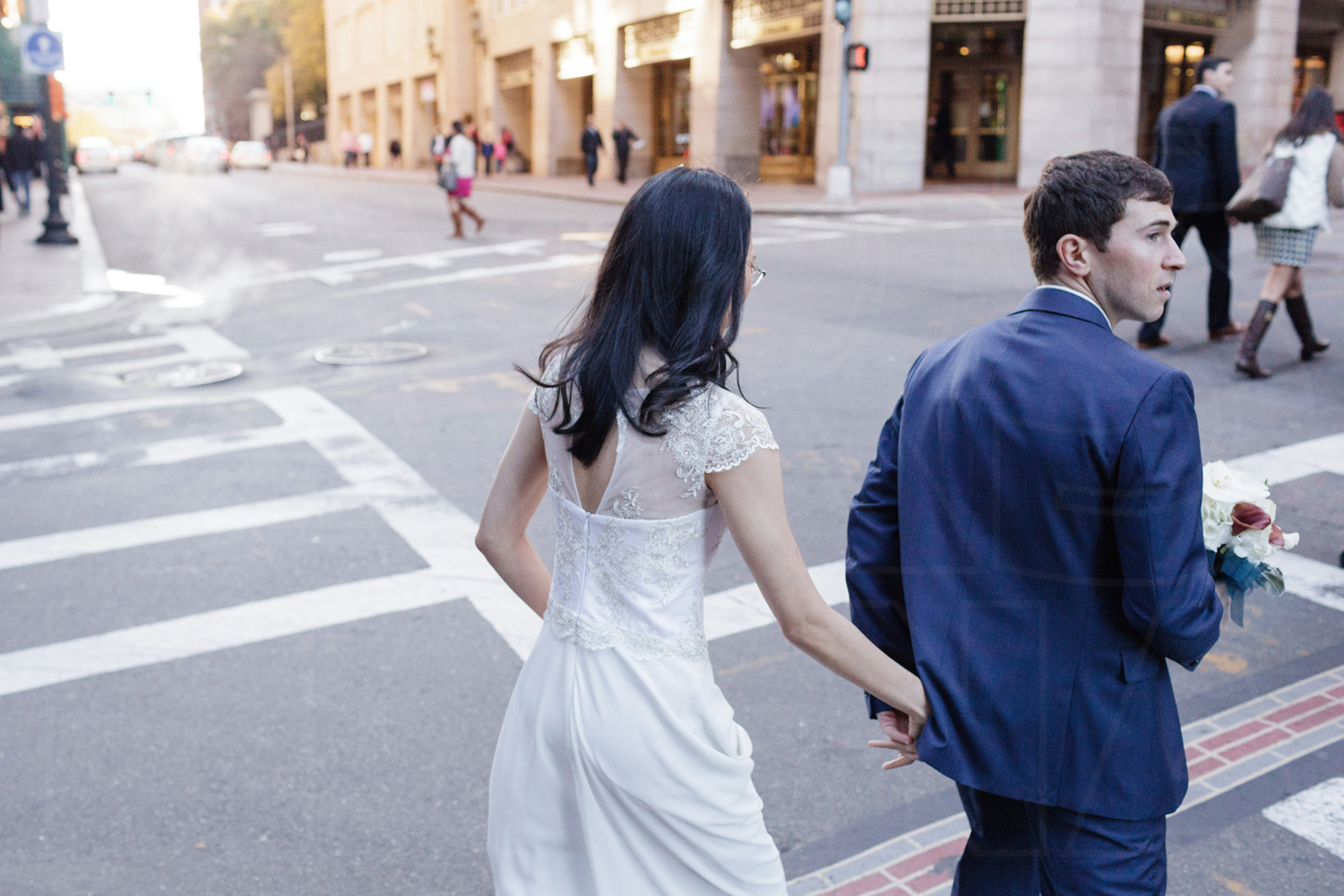 downtown boston wedding photojournalism