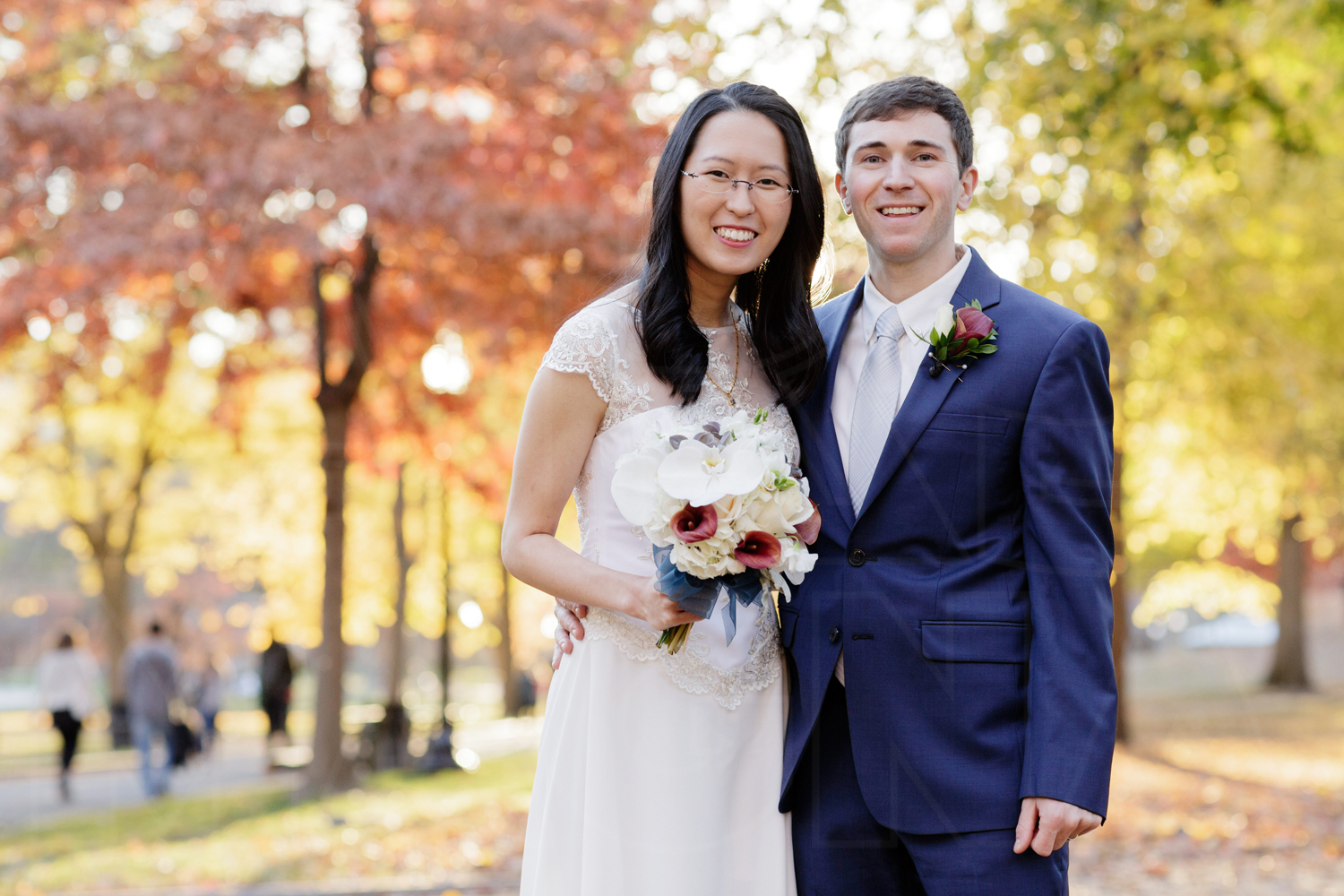 fall wedding portrait boston