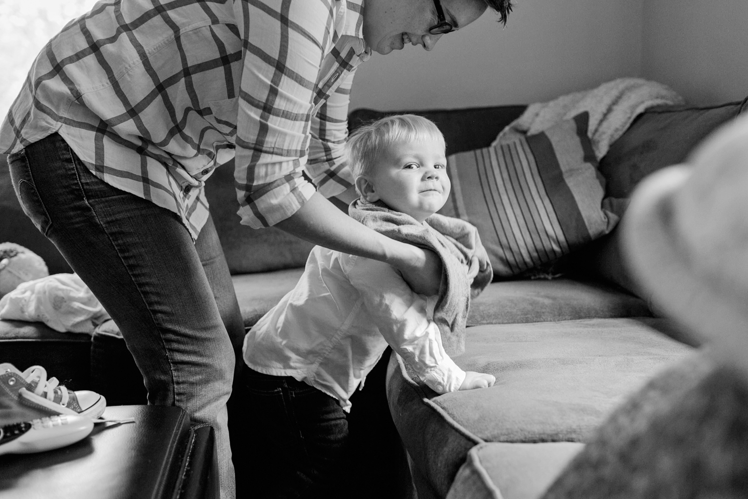 toddler squirm Boston family portrait photography
