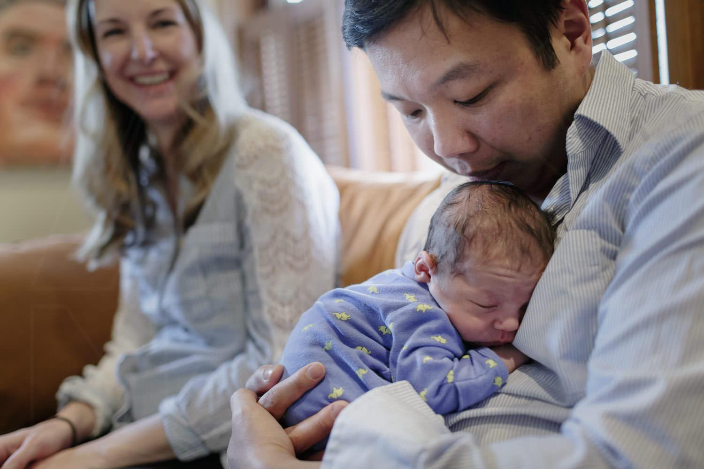 boston family photographer newborn at home