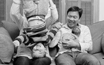 Family Photos Boston   At Home Newborn Session