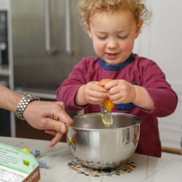 cooking at home with toddlers