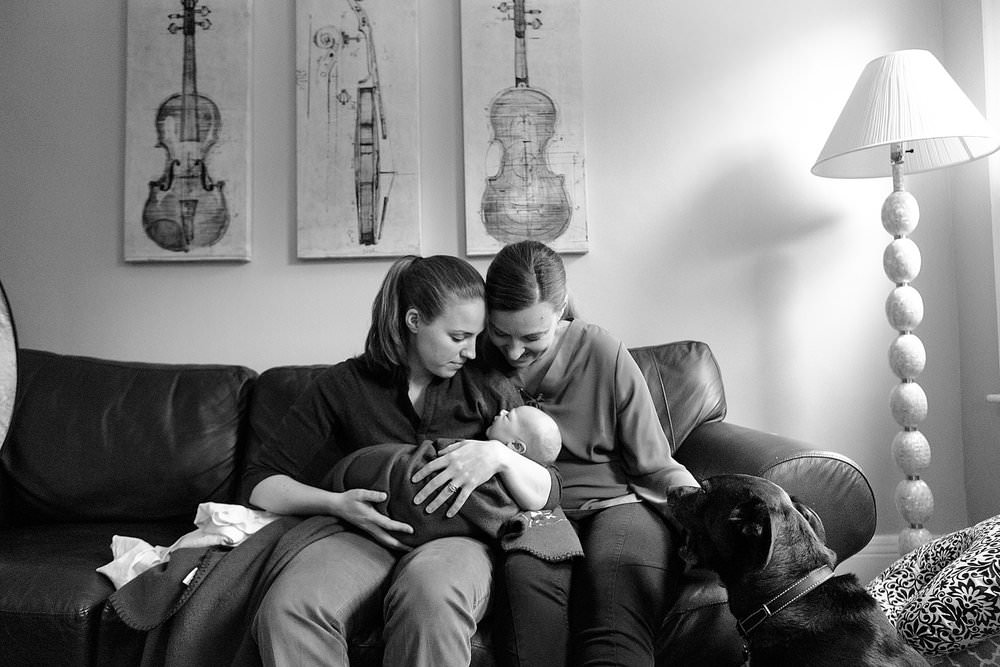newborn family portrait at home brookline mass photographer