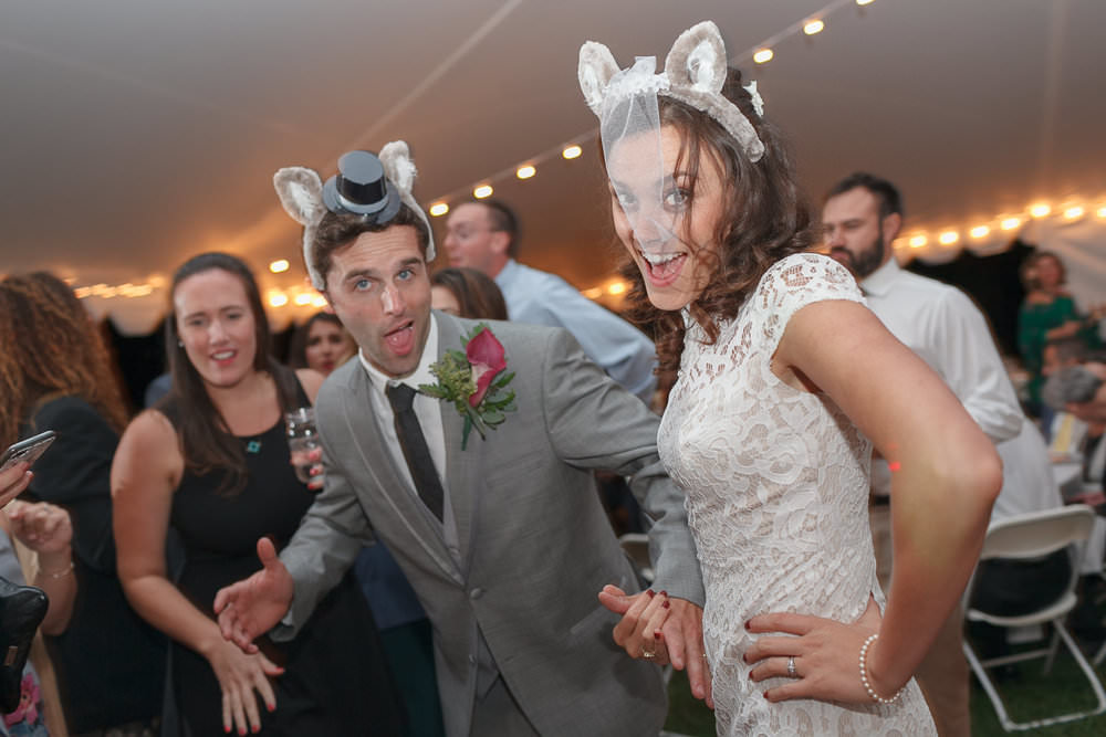 lunenberg mass settlers crossing wedding reception fox ears bride and groom on the dance floor