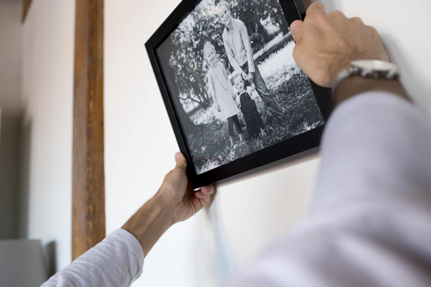 how to hang family photos on the wall boston portrait photographer