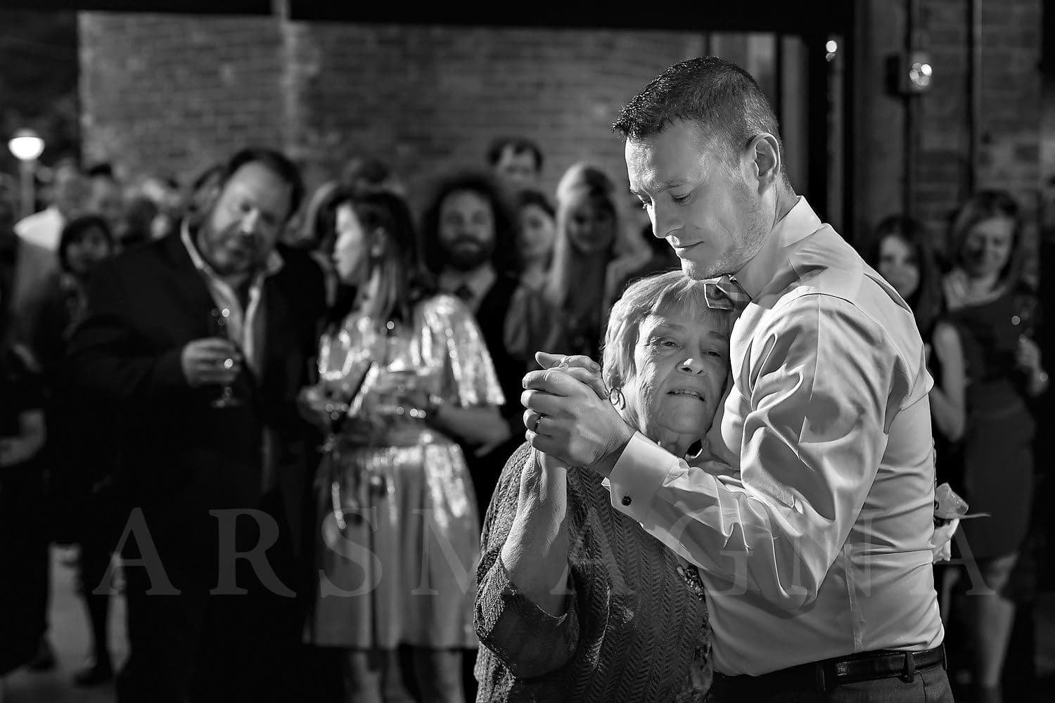 jamaica plain wedding photography indie reception mother son dance