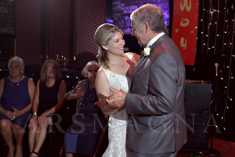 jamaica plain wedding photography indie reception milky way bella luna father daughter dance
