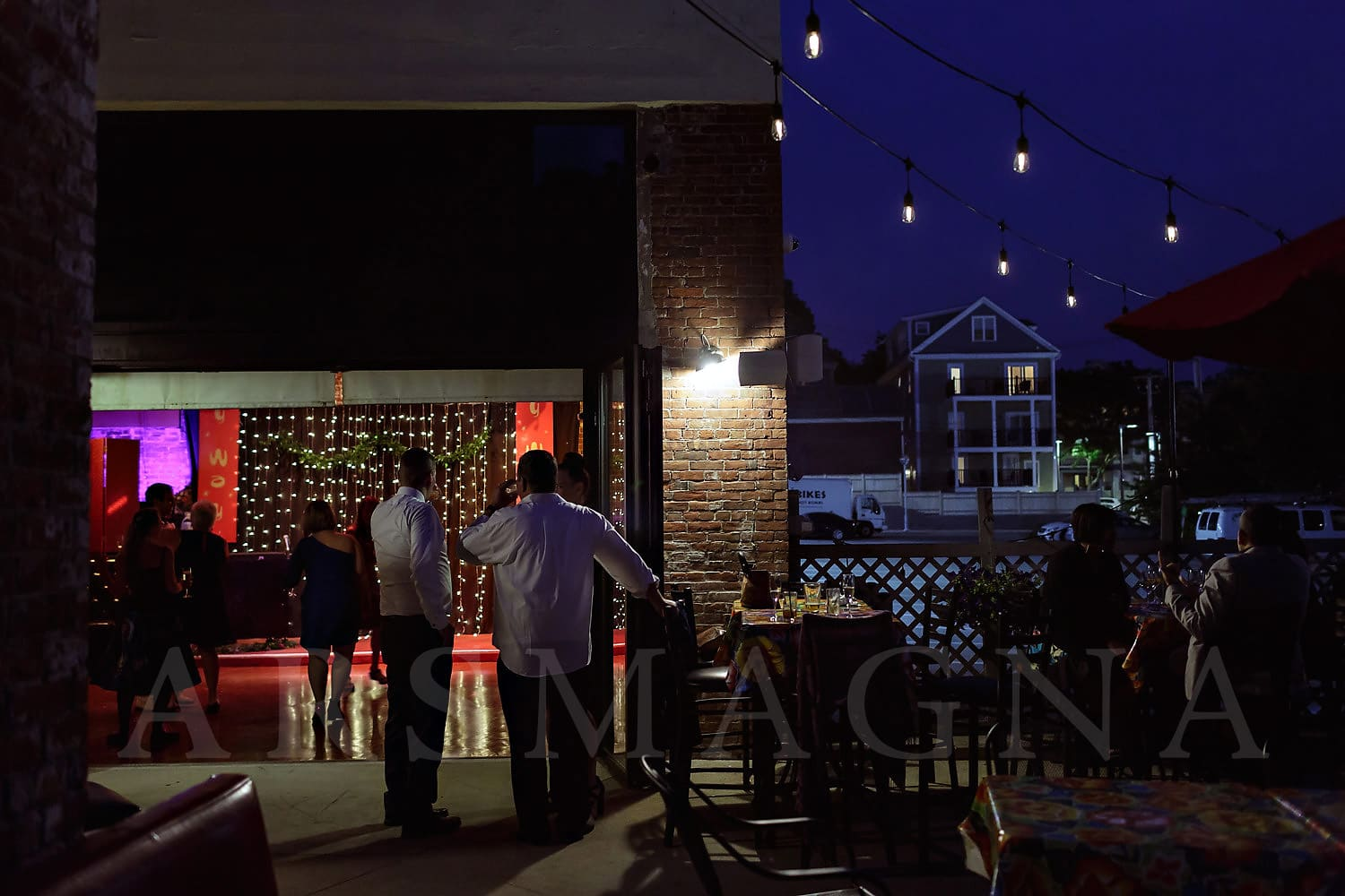 jamaica plain wedding photography indie reception milky way bella luna patio