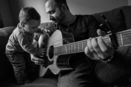 daddy and me south end family portrait photography guitar lessons with dad