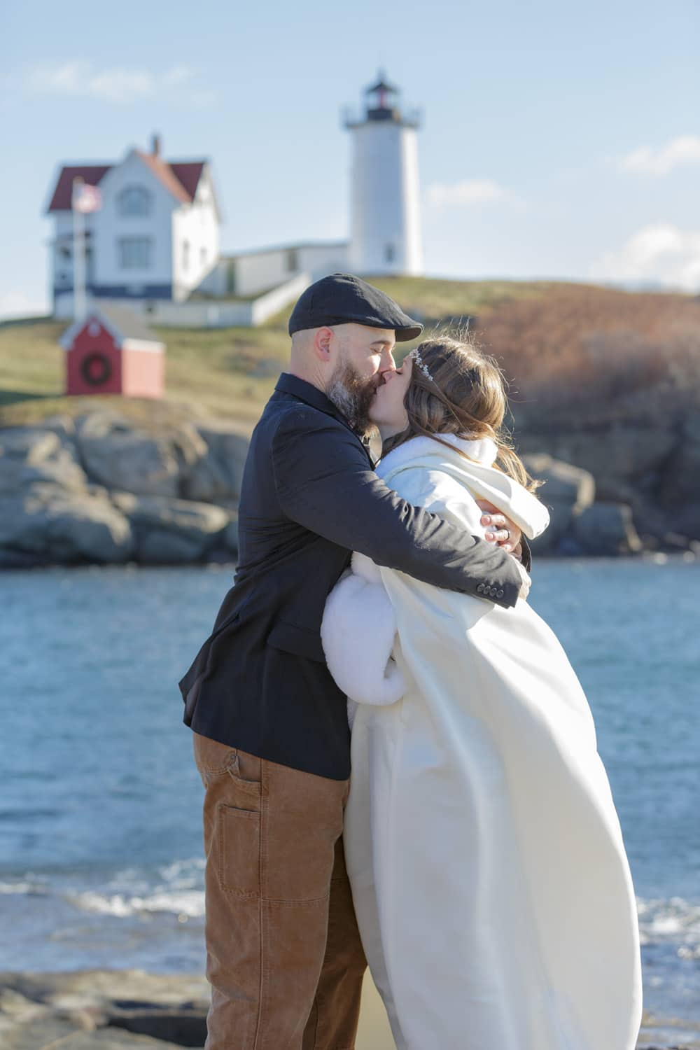 november beach wedding nubble point york elopement photography