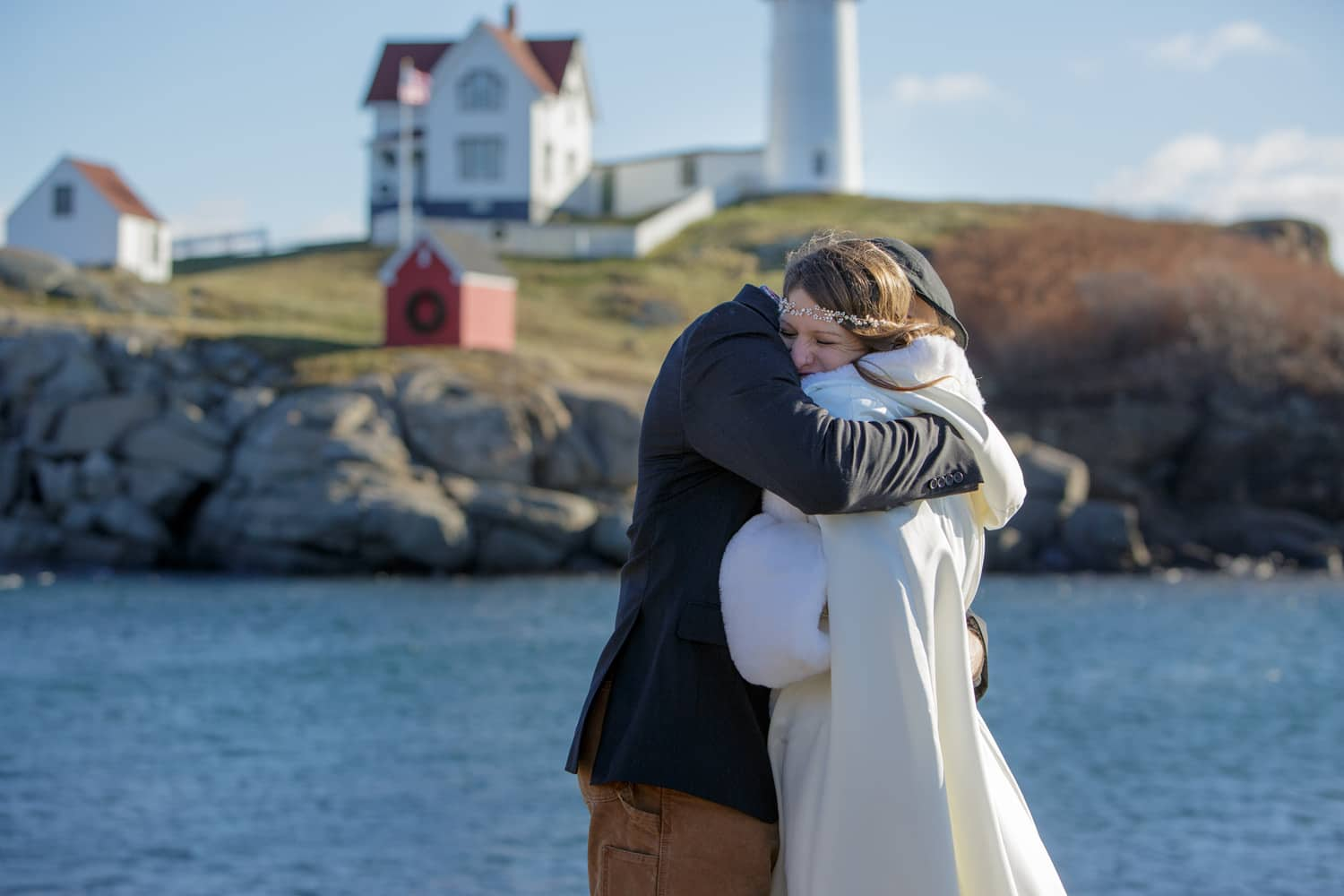 nubble point york bride groom overalls cape beach wedding maine