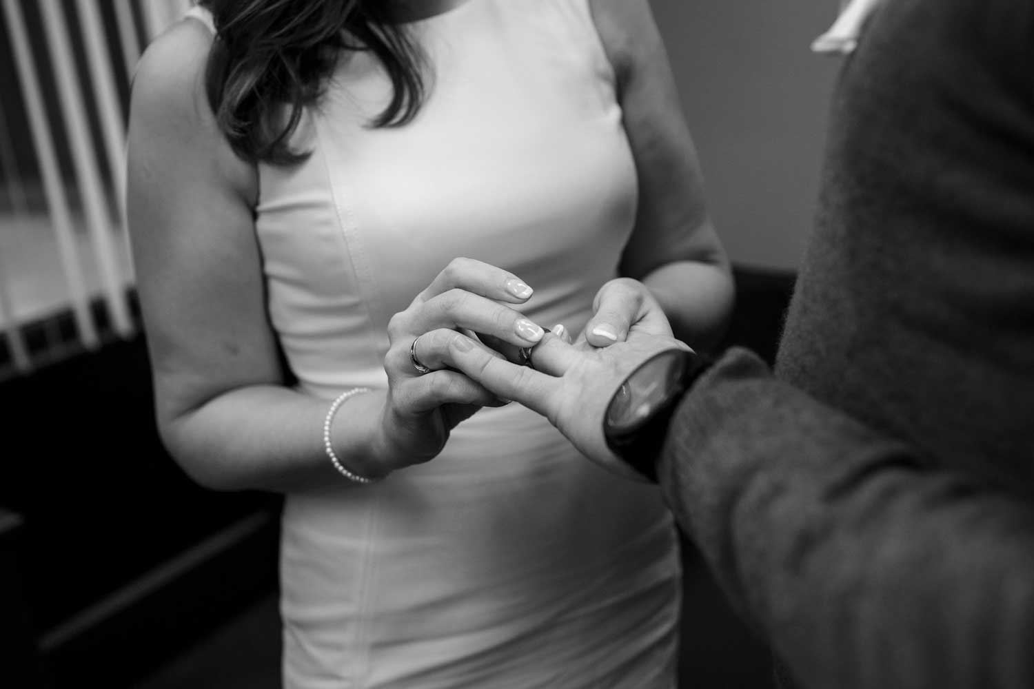 civil ceremony at boston city hall wedding elopement photos