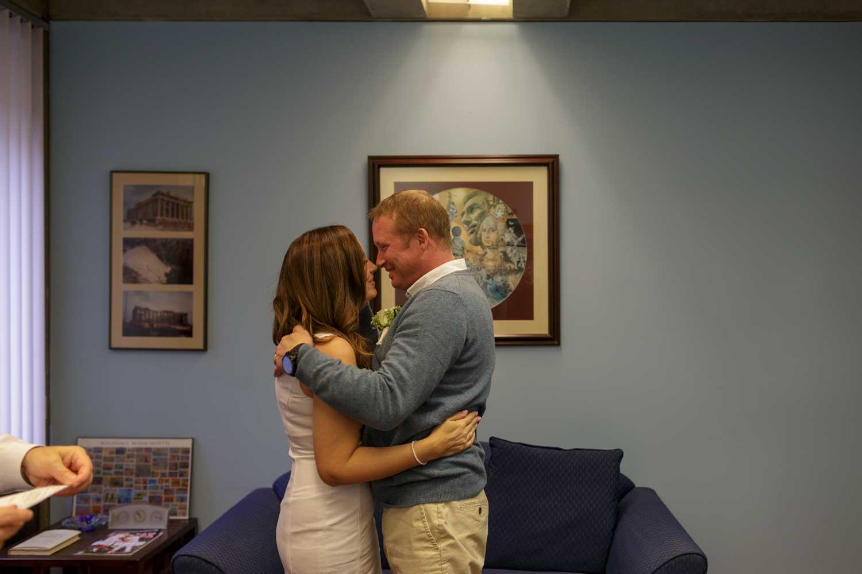 civil ceremony at boston city hall wedding elopement photos