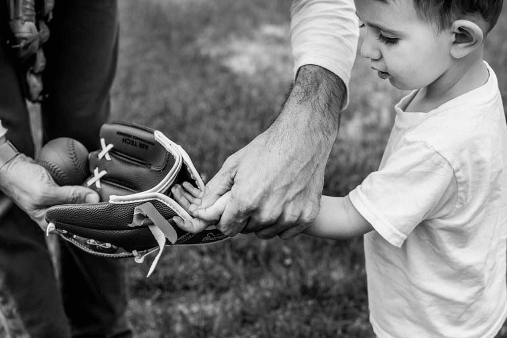 berkshire hudson valley family photography first baseball mitt