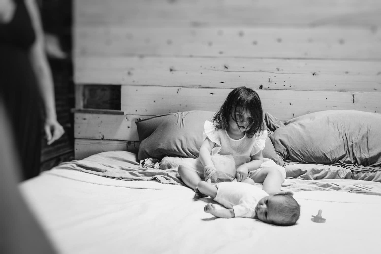 child led family photos in home newborn photographer boston ma