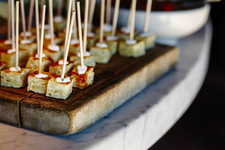 barcelona wine bar brookline wedding fall afternoon reception potato tortilla